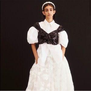 NWT Simone Rocha black sequin top